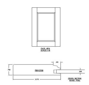 monreale door style profile